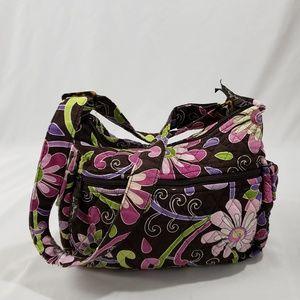 Vera Bradley Brown Floral Crossbody Bag Purse